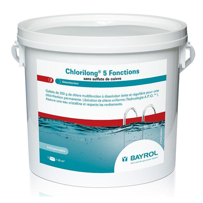 Cloro lento Chlorilong 5 Funciones Bayrol 5kg ,10kg ,25kg